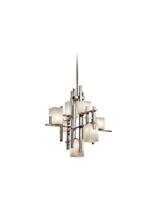 "KIchler City Lights Steel 23 1/2"" Wide Chandelier -"