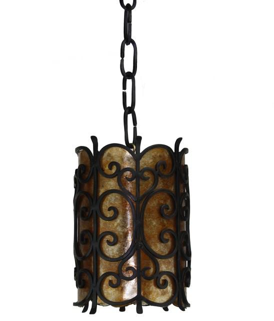 Custom iron pendant lights mediterranean pendant for Hacienda style lighting