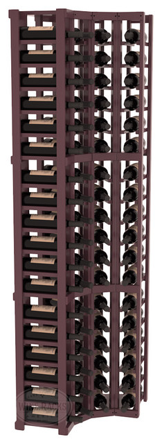 3 Column Wine Cellar Corner Kit in Pine, Burgundy + Satin Finish contemporary-wine-racks