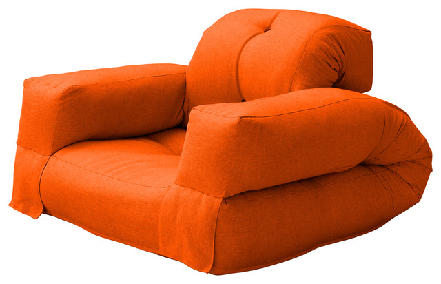 hippo convertible futon chair bed orange mattress contemporary sofa