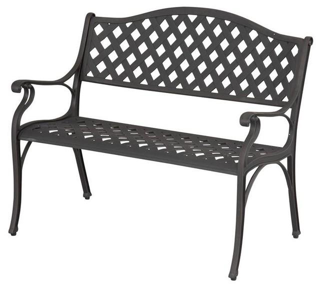 Hampton Bay Benches Legacy Aluminum Patio Bench C526 62 Contemporary Outdoor Benches By