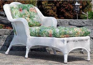 Sahara Chaise Lounge w/Bahama Breeze cushion - White contemporary-outdoor-decor
