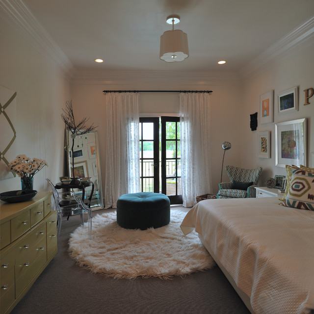 Showhouse bedroom for teen girl modern kids houston by carla aston interior designer - Bedroom for girl interior design ...