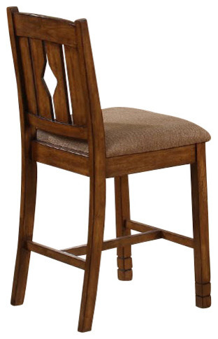 Canterbury Hamilton Counter Height Chair in Urban Oak (Set of 2) traditional-dining-chairs