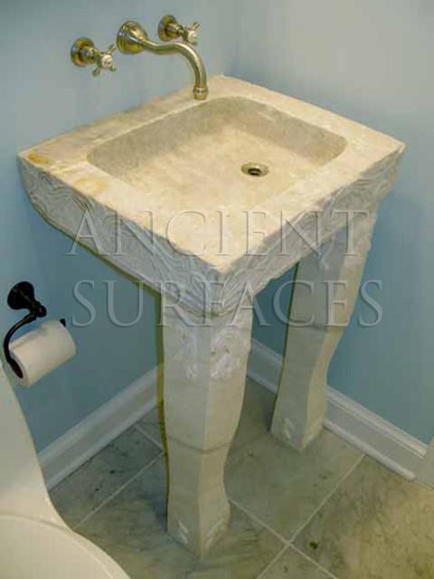 small powder room free standing limestone sink mediterranean bathroom sinks denver by. Black Bedroom Furniture Sets. Home Design Ideas