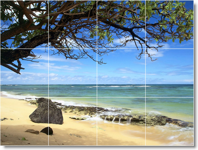 Beach Picture Wall Tile Mural B111 traditional-tile-murals