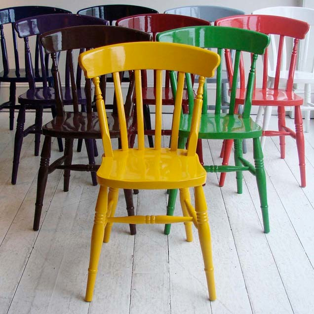 Contemporary Dining Chairs Hand-Painted Windsor Chair