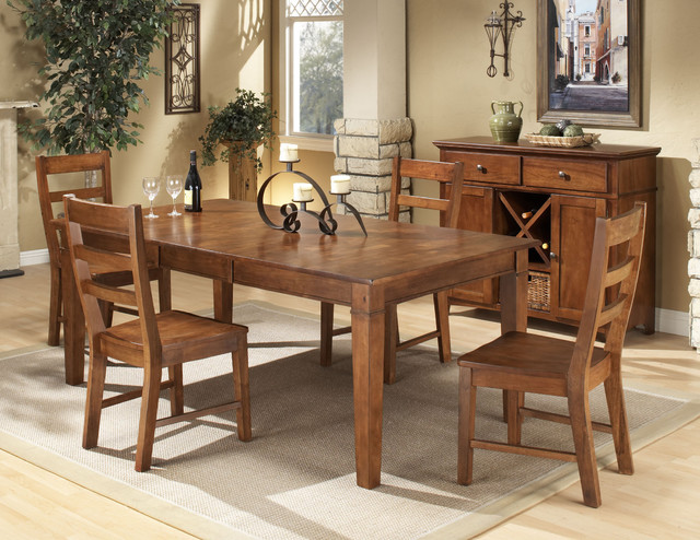 Intercon Scottsdale Solid Rubberwood 5 Piece Dinette Set Contemporary Dining Sets By