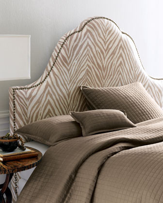Light Zebra Headboard traditional-headboards
