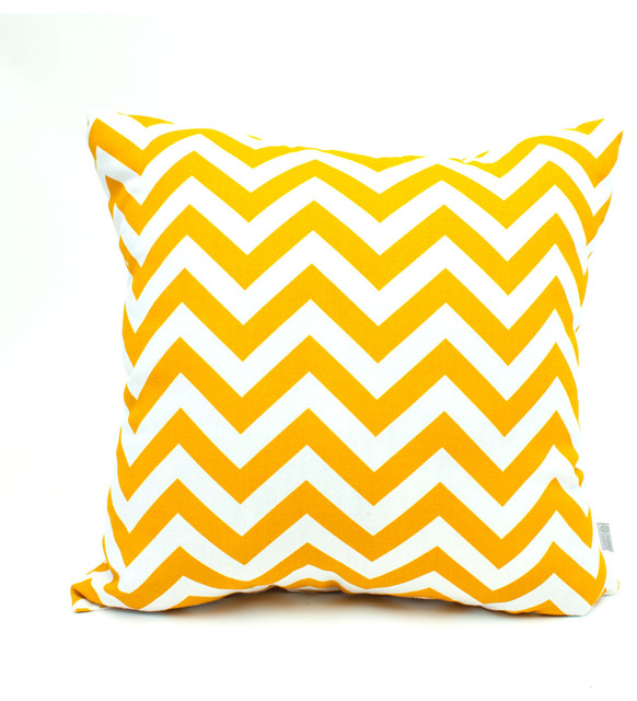 Big Yellow Throw Pillows : Outdoor Chevron Pillow, Yellow - Contemporary - Outdoor Cushions And Pillows - by Majestic Home ...