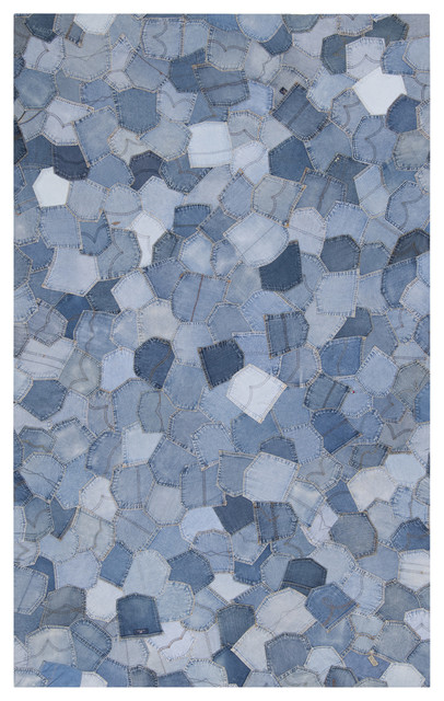 Denim Mosaic Pockets Rug eclectic-rugs