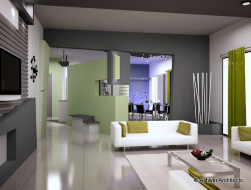 5 Bhk Interior Design Of Madhu 39 S Apartment Bangalore Modern Living Room Other Metro By
