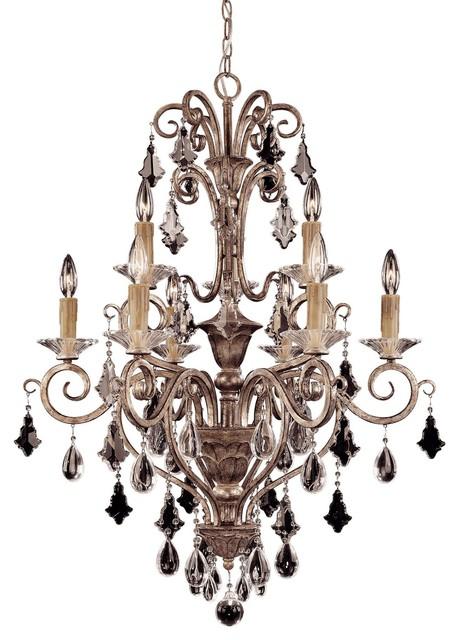 Tuscan Nine Light Up Lighting Two Tier Chandelier modern-chandeliers