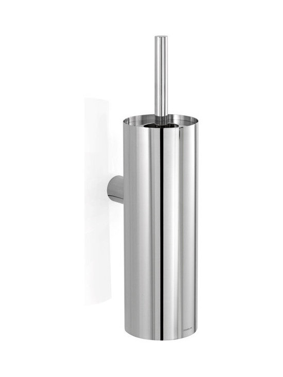Blomus - Duo Toilet Brush  Polished - Stainless steel. Available with a polished finish and a choice of stand alone or wall mountable.