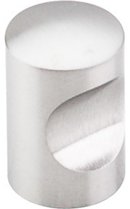 Indent Knob, Brushed Stainless Steel modern-cabinet-and-drawer-knobs