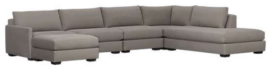 Domino Five-Piece Right Arm Sofa Sectional contemporary-sectional-sofas