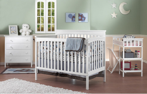 Petite Paradise 4-in-1 Convertible Crib Set modern-cribs