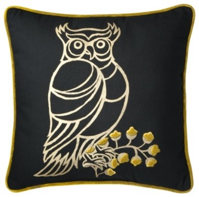 Patch Owl Pillow - contemporary - pillows - by Target