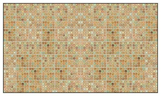 Faux Glass Tile, Multi/Tan Wallcoverings, Multi/Tan, Border (13 Sq Ft ...