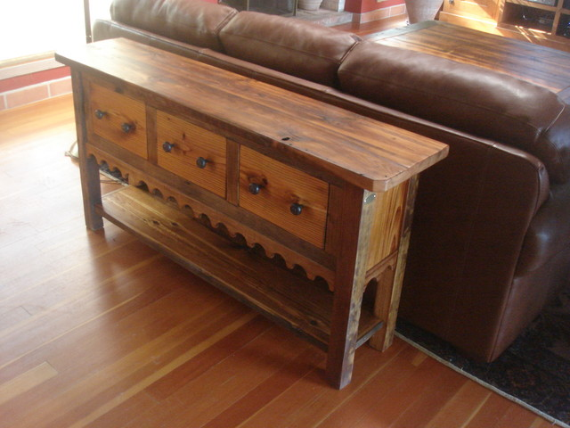 Antique Pine Console Table Mediterranean Buffets And