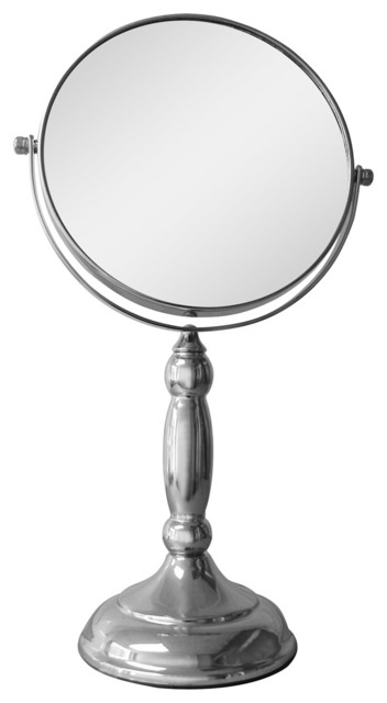 Free Standing Oval 5X Magnifying Makeup Mirror contemporary-makeup-mirrors