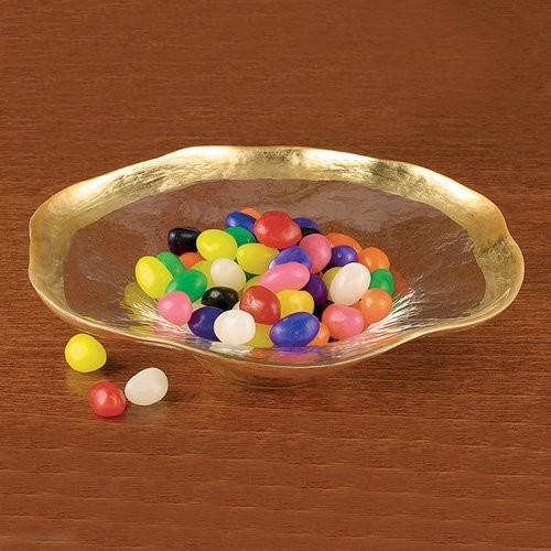 Badash Wave Gold Leaf Round Bowl - 8 in. modern-serving-utensils