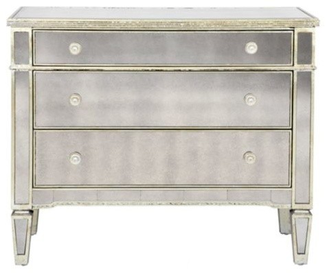Borghese Mirrored 3 Drawer Chest - Transitional - Dressers - by Z Gallerie
