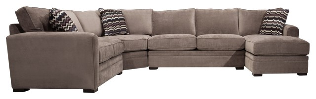 Image Result For Pc Tracey Chocolate Plush Microfiber Upholstered Sectional Sofa With Recliners