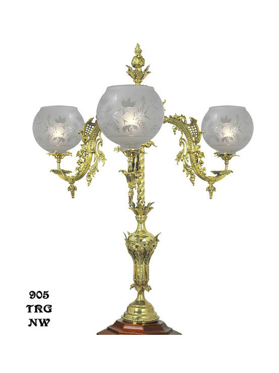 Victorian Chandeliers - Starr-Fellows were outstanding manufacturers of the Victorian era, and their gaslight chandeliers and sconces inspired this newel post light.