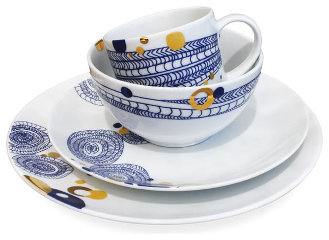 Basket 16-Piece Dinnerware Set by Dana Oldfather contemporary-dinnerware-sets