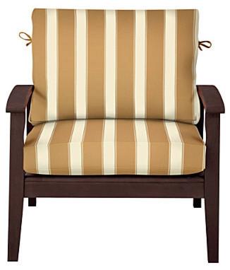 "Comfort Deep Seat Cushion Set (17""x24""x4"" back; 24""x24""x4-1/2"" seat) - Khaki Awn contemporary-outdoor-lounge-chairs"
