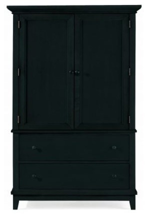 American Drew 181-250B Door Chest- Black Sterling Pointe traditional-accent-chests-and-cabinets
