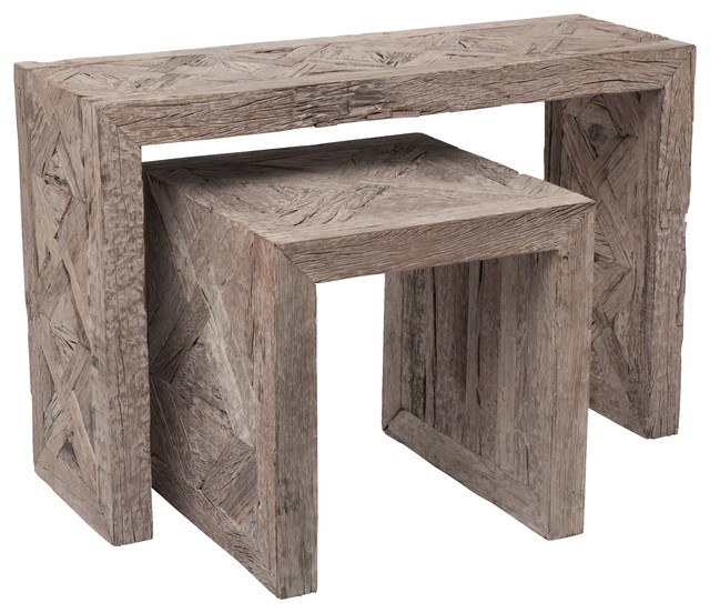Deer Valley End Table Gray Rustic Side Tables And