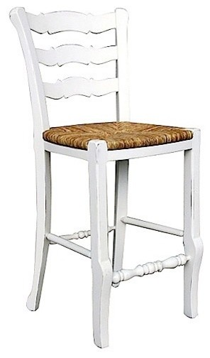 Trade Winds Furniture White Provence Ladderback Counter Stool contemporary-bar-stools-and-counter-stools