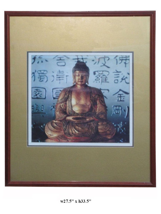 Framed Sitting Sakyamuni in Diamond Sutra Background Wall Decor (Printed) - http://www.orientliving.com/frsisaindisu.html