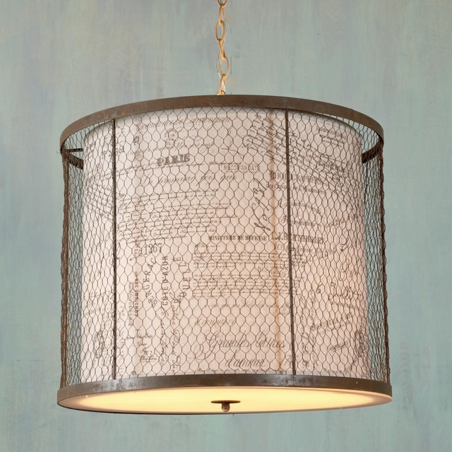 Wire Cage Drum Shade Lantern Lamp Shades by Shades of  : lamp shades from www.houzz.com size 640 x 640 jpeg 115kB