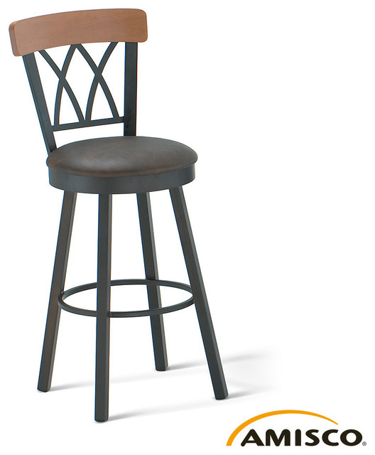 Amisco Brittany Swivel Stool Modern Bar Stools And
