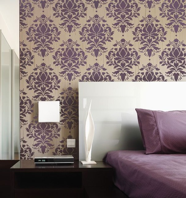 Wall Design With Stencils : Home decor wall stencils modern new york by janna