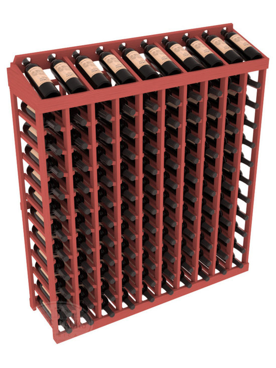 Wine Racks America® - Commercial Wine Rack RetailEDGE™ Standard Base with Display Top, Cherry Stain - Our Standard Base with Display Top holds up to 120 bottles, giving your retail wine rack the display it needs to help customers shop with ease. With the solid Ponderosa pine option, 13 beautiful stain & finish combination choices, this retail wine rack kit is the perfect display storage solution for your retail store. Increase your bottom line today with RetailEDGE Series ™.