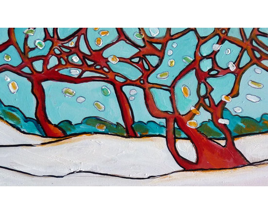 Fine Art- Paintings of Trees - acrylic on wood, ©Nicky Torkzadeh