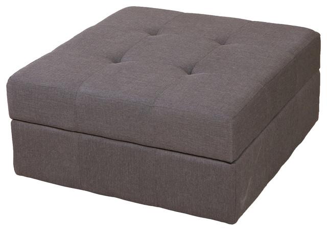 Northridge Grey Fabric Storage Ottoman contemporary-footstools-and-ottomans