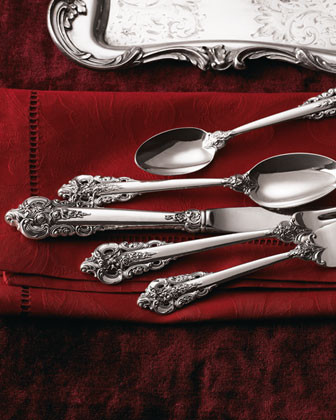 Wallace 46-Piece Grande Baroque Flatware Service traditional-flatware