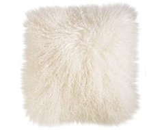 Cream Mongolian Wool Pillow eclectic pillows