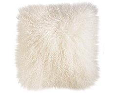Cream Mongolian Wool Pillow eclectic-pillows