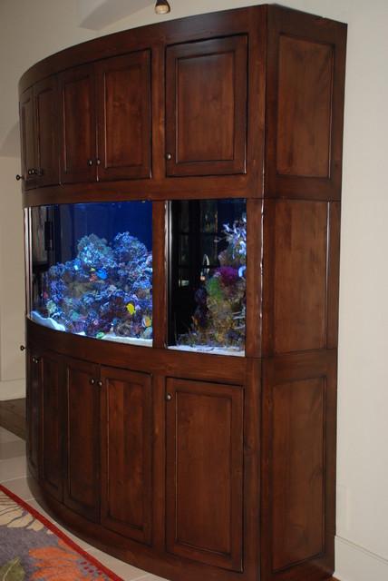 Rustic Radius Aquarium Stand Cabinet Unit Traditional