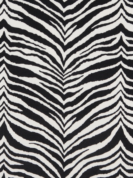 E415 Zebra Animal Print Microfiber Fabric -