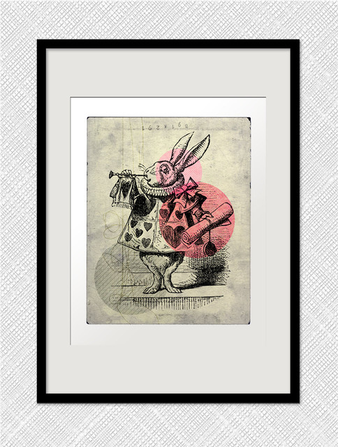 The White Rabbit By One Little Bird Studio contemporary-artwork