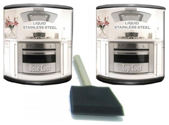 Liquid Stainless Steel Paint Range/Dishwasher Kit