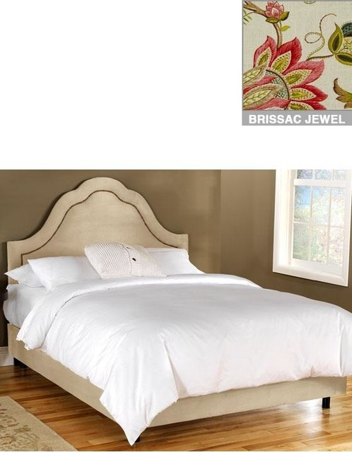 Custom Jameson Upholstered Bed Traditional Beds