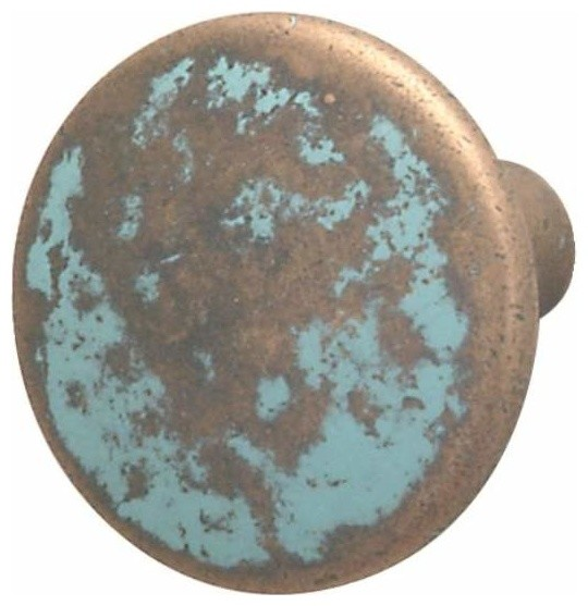 Hafele: Knob: Zinc: Rustic Copper: M4: 37 X 26mm - Rustic - Cabinet And Drawer Knobs - by KnobDeco